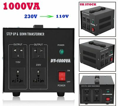 Step Down / Up Transformer 230V-110V AC UK to US Voltage Converter 500W 1KW AX