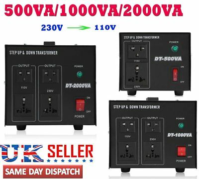 200/500/1000/2000W UK-US US-UK Step Up/Down Voltage Converter Power Transforme X