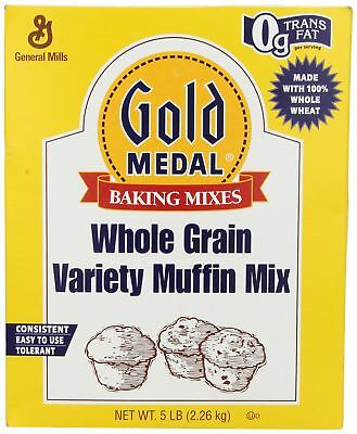 Gold Medal Whole Grain Variety Muffin Mix, 5-Pound Package