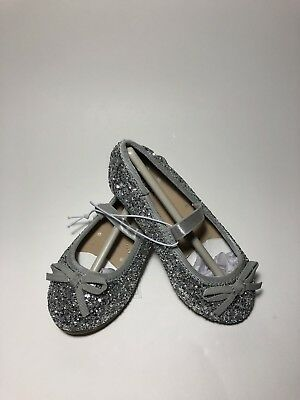 d37898965a1c CAT & JACK CACEY GIRLS SHOES / SILVER GLITTER BALLET FLATS / TODDLER NWT  Size 7