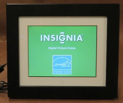 """Insignia 8"""" Digital Photo Frame NS-DPF0812W - Works Great - Free Shipping"""