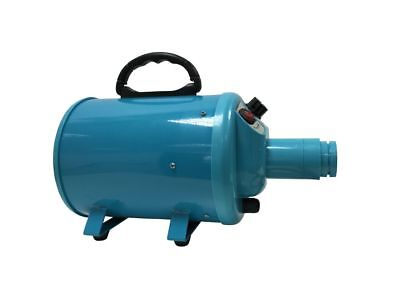 VARIABLE SPEED DOG BLASTER STYLER DRYER HOT AIR CYCLONE (Blue)