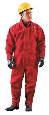 Ansell Sawyer-Tower Polyester Chemical Protect Red Coveralls Style 8016 - Large