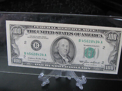 1985 $100.00 dollar note in Uncirculated condition. Just beautiful E06659802A
