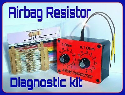 New Airbag Resistor Tool+*100 Free Resistors * Variable  Diagnostic Testing Srs