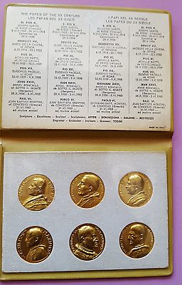 VATICAN CITY POPES OF  THE 20th CENTURY  GOLD MEDAL COIN SET - ORIGINAL WALLET