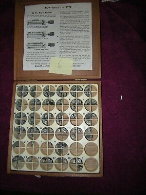 KINGSLEY STAMPING MACHINE Type Set Font 18 Pt Announcement Roman Caps