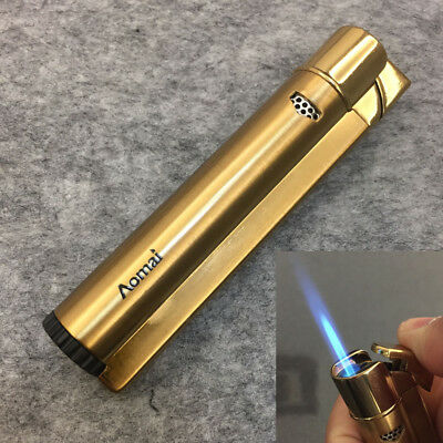 AOMAI Windproof Jet Torch Refillable Butane Flame Cigar Cigarette Lighter Gold