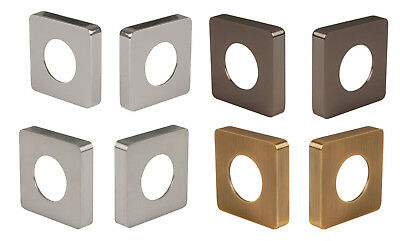 JIGTECH Square Roses for Lever Passage Door Handles Chrome Satin Black or Brass