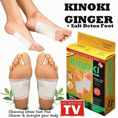 GOLD Premium Kinoki Detox Foot Pads Cleanse Energize Your Body