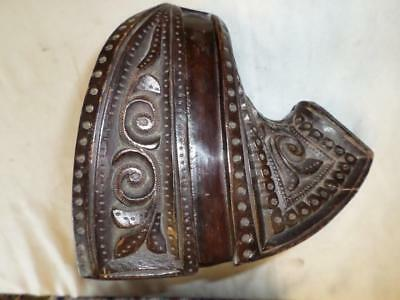Antique/Vintage Hand Carved Hardwood Stirrup From Chile, South America