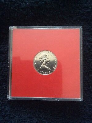 1978 Isle Of man one pound coin in excellent condition in plastic case.