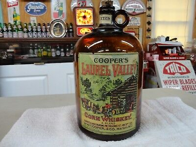 Nc Whiskey W.w.cooper & Company Paper Label Cork Spout Corn Whiskey  Marion Nc
