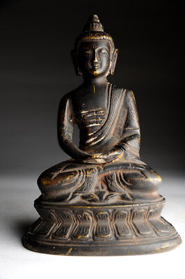 Buddha antik Bronze Tibet/China antique Yoga alt Buddhismus Meditation