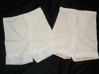 2 Vintage Playtex I CAN'T BELIEVE IT'S A GIRDLE Garters Long leg 2506 Lot Large