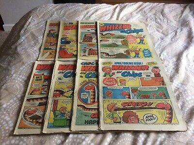 Whizzer and Chips Comics UK 8 Issue Bundle IPC Magazines April & May 1983