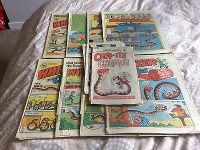 Whizzer and Chips Comics UK 8 Issue Bundle Feb & March 1983 + 6 cut out comics