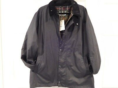 """Barbour Authentic Navy """"heskin Wax"""" Jacket Size Xxl New With Tags"""
