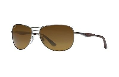 Ray Ban RB3519 029 83 Brown Frame Brown B-15 Polarized 59mm Lens Sunglasses