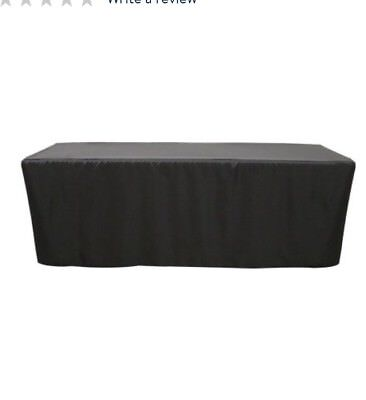 8' ft. Fitted Polyester Tablecloth Table Cover Trade or craft show.