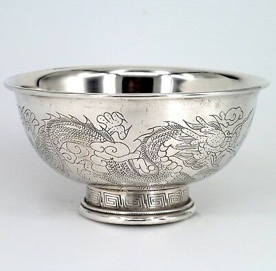 CHINESE SILVER BOWL FULLY HALLMARKED 140g APPROXIMATELY 5 OUNCE