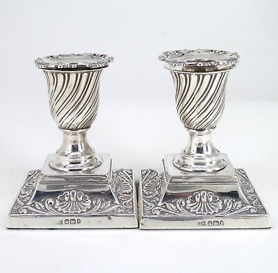 Silver Candlesticks 1897 Hallmarked Sterling By George Howson