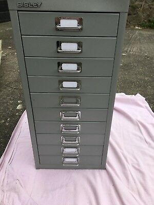 BISLEY - 10 MULTI DRAWER FILING CABINET grey