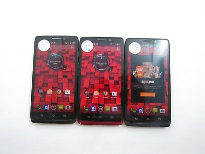 Lot of 3 Motorola Droid Ultra XT1080 Verizon Check IMEI 4C 627
