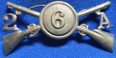 Indian Wars 6th Army 2nd Infantry Regiment A Company Officer Hat Badge