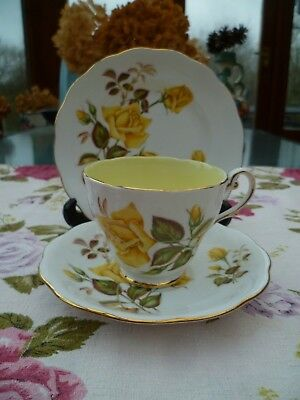Lovely Vintage Royal Standard China Trio Tea Cup Saucer Yellow  Sunset Rose