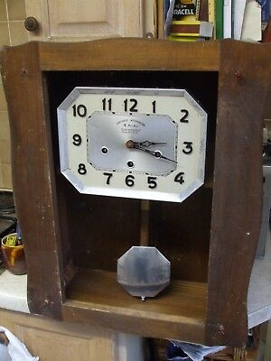 Vintage French Art Deco 4 Air Chrono Garanti Westminster Chimes Wall Clock