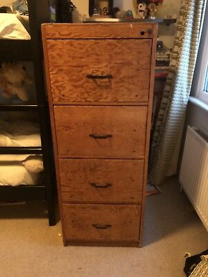 Antique Vintage Retro Traditional Wooden Filing Cabinet / chest of drawers