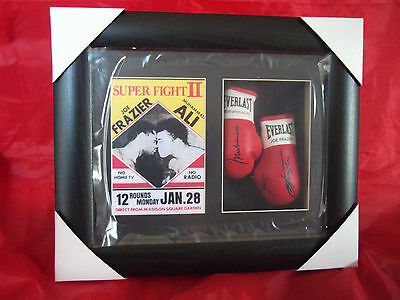 Muhammad Ali Vs Joe Frazier Mini Signed Boxing Gloves Superfight II