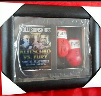 Tyson Fury v Klitschko Mini Signed Boxing Gloves