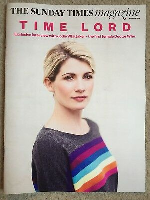 Sunday Times Magazine New Jodie Whittaker Cover New Dr Who