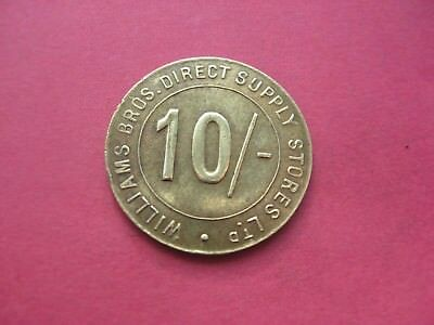 Williams Bros direct supply stores LTD 10/- trade token London grocery store coi