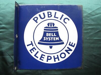 Vintage Bell System Public Telephone Sign