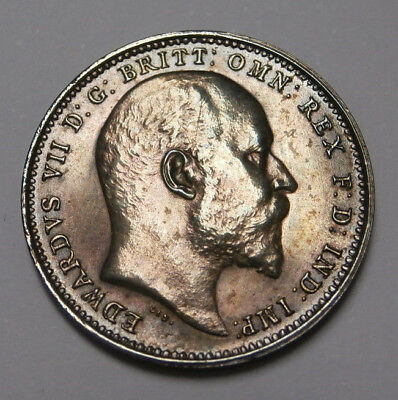 UK Great Britain ,Edward VII  PROOF Maundy 4D fourpence 1908, FDC