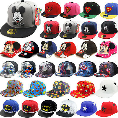 Children Baby Kids Girl Boy Mickey Hat Hippy Hip Hop Snapback Sport Baseball Cap