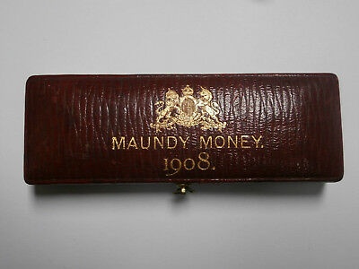 UK Great Britain ,Edward VII   empty etui Maundy sets 1908, excellent condition