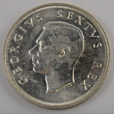 South Africa 5 Shillings 1952 300th Anniversary Founding of Capetown Silver Coin