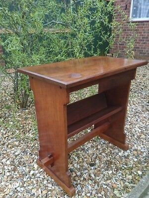 Beautiful Antique Vintage Mahogany Hall Side Console Table w/ Bookshelf Church?