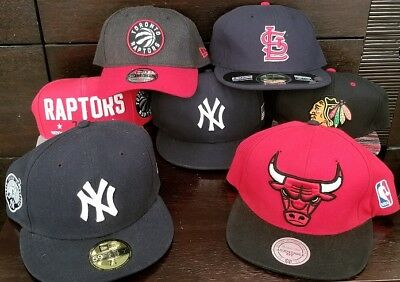 "Lot of 7 New Era Baseball Hats - Derek Jeter ""Captain"" Hat, Cardinals, MORE"