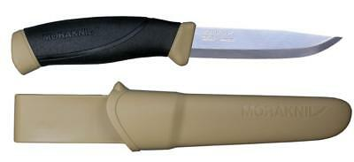 Morakniv Companion Fixed Blade Knife, Rubber Handle - Desert
