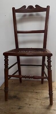 18-19th c Small Country Occasional Chair - cane seat needs TLC / restoration