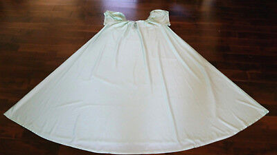 Vintage Long Wide Sweep Babydoll shiny silky nightgown Mint Green 1-2x sissy