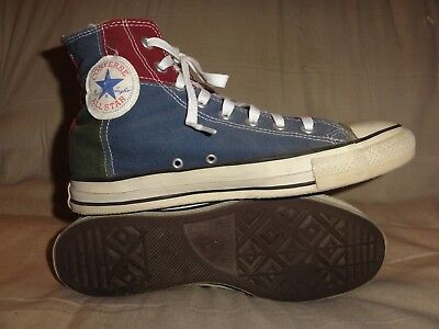 Vintage Converse Multi Colored High Tops Made In Usa Size 10.5 Mens