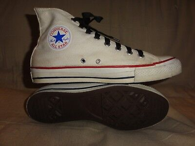 Vintage Converse White High Tops Made In Usa Size 9.5 Mens