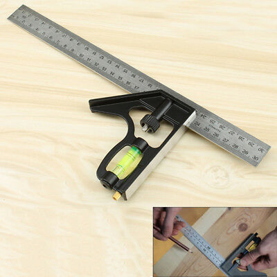 Multi-function 160*100mm Combination Square 90 Degrees Right Angle Ruler Meter