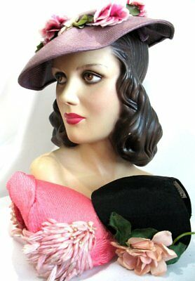 Very Pretty!!! Vintage 50's 60's Flowers Hats Lot of 3!
